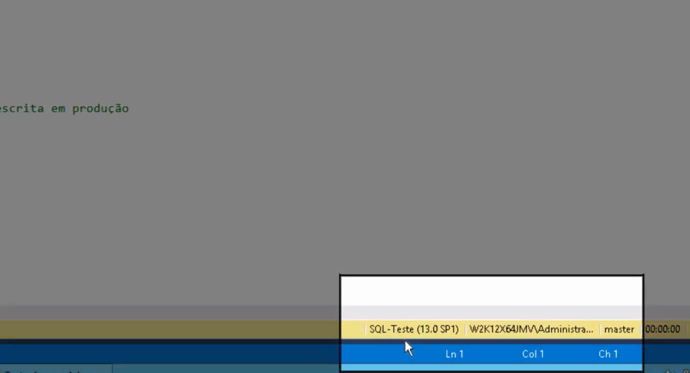 Confira onde você está conectado - Evite scripts em ambientes errados