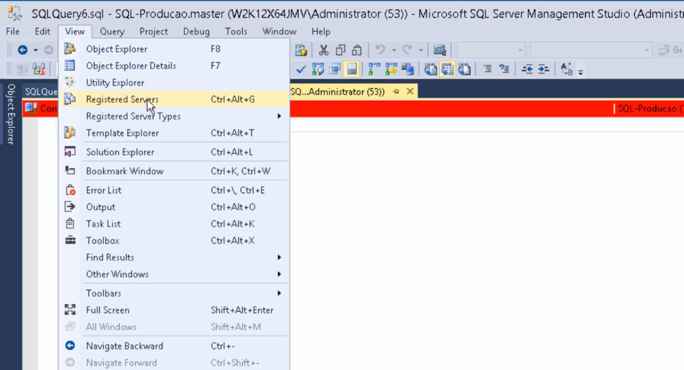 Mude a cor da barra de status da conexão - Evite scripts em ambientes errados